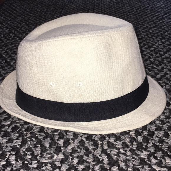 ac0f8b8c550a5e H&M Accessories | Hm Womens White Fedora Hat | Poshmark